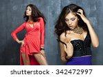 portrait of beautiful woman in... | Shutterstock . vector #342472997