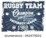 rugby team vector print and... | Shutterstock .eps vector #342475031