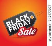 black friday sales tag. vector... | Shutterstock .eps vector #342477077