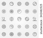 radar icons set   vector thin...   Shutterstock .eps vector #342482525