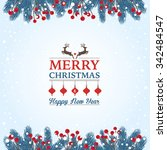 christmas card | Shutterstock .eps vector #342484547
