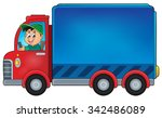 delivery car theme image 1  ... | Shutterstock .eps vector #342486089
