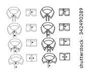 fashion sketch of shirt collars ...