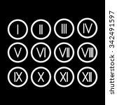 the set roman numerals 1 12... | Shutterstock .eps vector #342491597