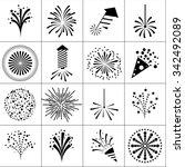 firework icons | Shutterstock .eps vector #342492089
