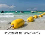 Yellow Buoy At The Pattaya...