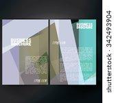 vector brochure template design ...   Shutterstock .eps vector #342493904