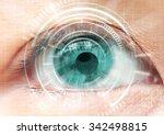 women eye cataract  contact... | Shutterstock . vector #342498815