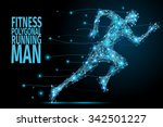 running man from abstract... | Shutterstock .eps vector #342501227
