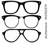 vector glasses | Shutterstock .eps vector #342502379