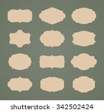 set of vintage labels | Shutterstock .eps vector #342502424