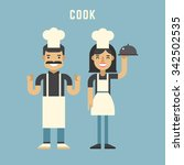 cook concept. cook. male and... | Shutterstock .eps vector #342502535