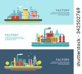 set of industrial factory...   Shutterstock .eps vector #342502769