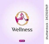 wellness yoga logo design... | Shutterstock .eps vector #342503969