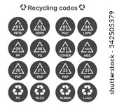 recycling codes  packing... | Shutterstock .eps vector #342505379
