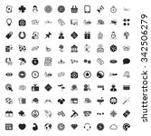 gambling 100 icons universal... | Shutterstock . vector #342506279