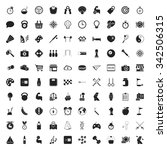 sport 100 icons set for web flat | Shutterstock . vector #342506315
