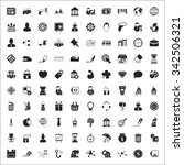 business 100 icons universal... | Shutterstock . vector #342506321
