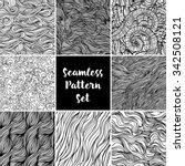 set of black and white... | Shutterstock .eps vector #342508121