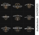 set of hipster vintage labels