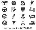 vector vehicle service station... | Shutterstock .eps vector #342509801