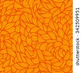 Vector Seamless Leaf Orange...