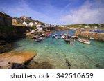 english fishing village coast... | Shutterstock . vector #342510659