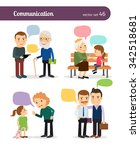 characters with speech bubbles. ... | Shutterstock .eps vector #342518681