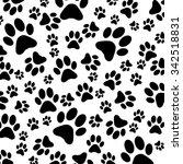 animal footprint pattern | Shutterstock .eps vector #342518831