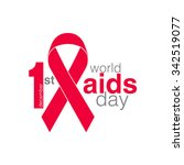 1st december world aids day   Shutterstock .eps vector #342519077