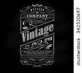 vintage western hand drawn... | Shutterstock .eps vector #342520697