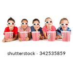 group of children with 3d...   Shutterstock . vector #342535859
