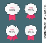 vintage label with ribbon... | Shutterstock . vector #342536741