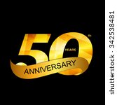 template logo 50th anniversary... | Shutterstock .eps vector #342538481