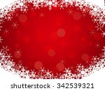 red background with snowflake... | Shutterstock .eps vector #342539321