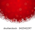 red background with snowflake... | Shutterstock .eps vector #342542297