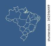 map of brazil | Shutterstock .eps vector #342546449