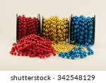 Beads Isolated On White...