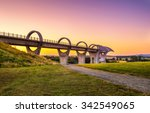 Falkirk Wheel At Sunset....