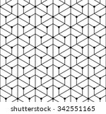 vector modern seamless ... | Shutterstock .eps vector #342551165