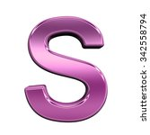 one letter from shiny pink... | Shutterstock . vector #342558794