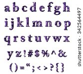 purple alphabet polygon style ... | Shutterstock .eps vector #342564497