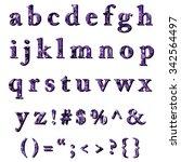 purple alphabet polygon style ... | Shutterstock .eps vector #342564497