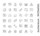 thin line icons set. flat... | Shutterstock .eps vector #342566561