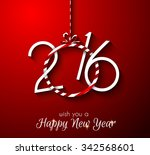 2016 happy new year and merry... | Shutterstock . vector #342568601