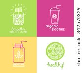 vector set of logo design... | Shutterstock .eps vector #342570329