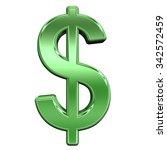 dollar sign from shiny green... | Shutterstock . vector #342572459
