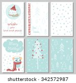 we wish you a merry christmas... | Shutterstock .eps vector #342572987