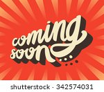 coming soon sign. | Shutterstock .eps vector #342574031