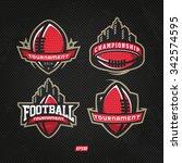 modern professional logo set... | Shutterstock .eps vector #342574595